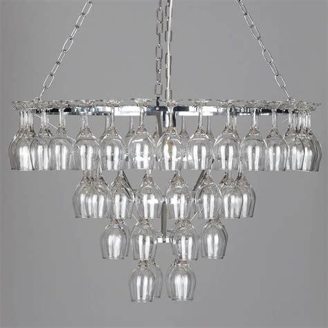 chandelier wine glass 4 tier 60 wine glass chandelier chrome