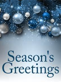 blue ornaments season s greetings card birthday