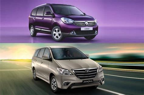 renault lodgy vs toyota innova price and specifications