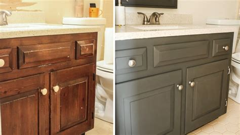 bathroom vanity painting before and after how to paint a bathroom vanity angie s list