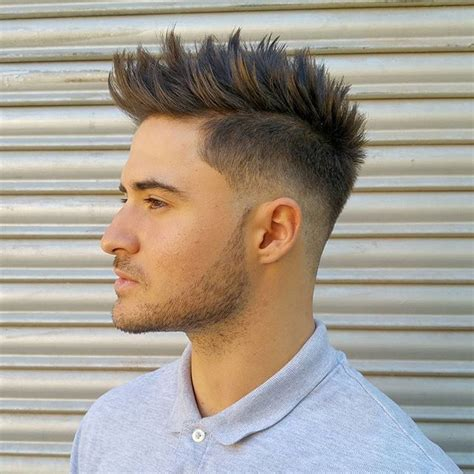 haircut buzzed sides spiked on top men s hair haircuts fade haircuts short medium long