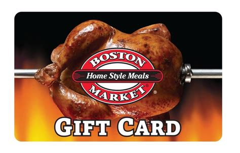 Boston Market Gift Card Promotion - boston market gift card 25 50 100 us mail delivery ebay