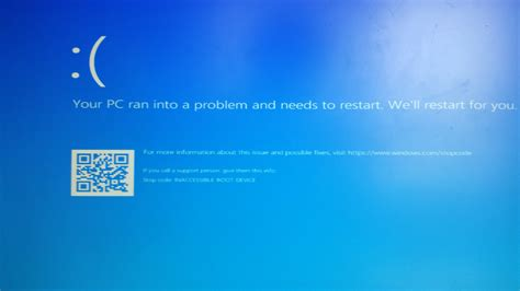 bsod asus  inaccessible boot device  bios