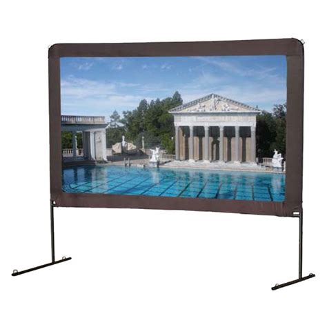 backyard projector screen elite screens yard master portable outdoor projector
