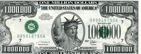 Get Started on Your One Million in the bank - One Million ... $1000000 Bill