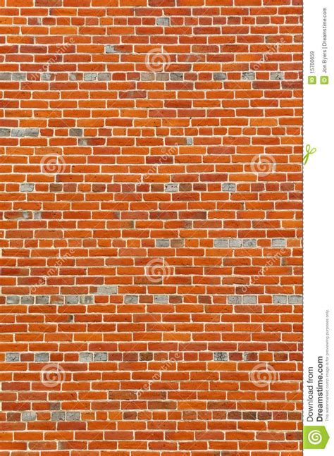 Large Section Of Colorful Vintage Brick Wall Royalty Free