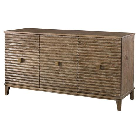 Rustic Pine Sideboard mona modern classic rustic pine corrugated sideboard kathy kuo home