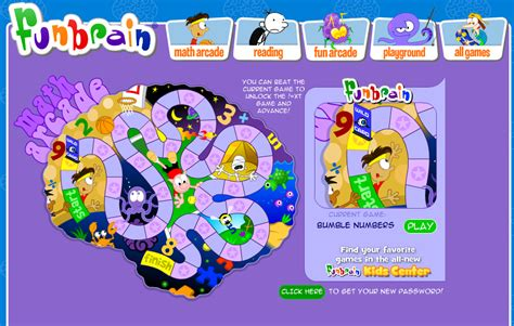 Mat Arcade funbrain great activities for math and reading swimming with the rest of the school