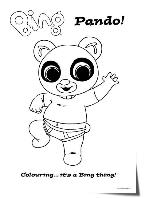 bing bunny coloring page bing bunny character colouring sheets battleplan creative