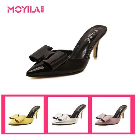 Baru Wedges Wanita Sandal Sepatu Wedges Sdw47 1 baru 2015 musim panas sepatu gaya fashion wanita bowtie menunjuk sandal kaki wanita flat 8 5 jpg