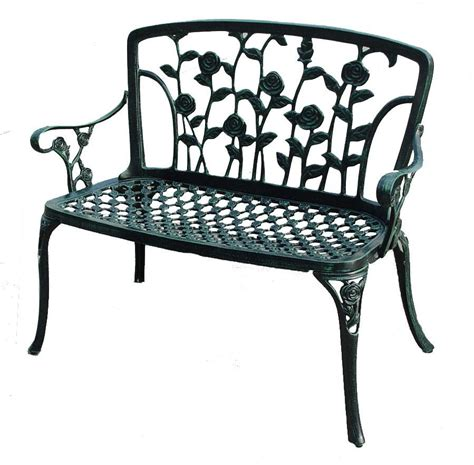 floral bench san clemente floral patio bench great deal furniture