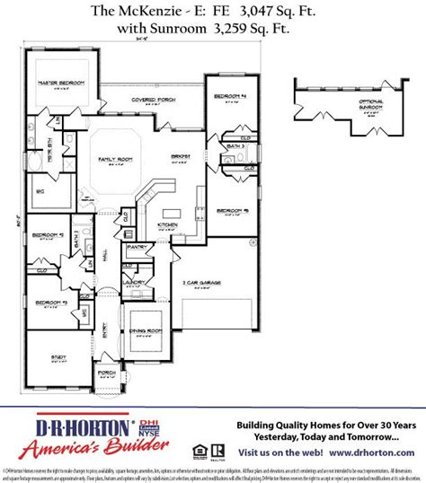 dr horton floor plan search my next