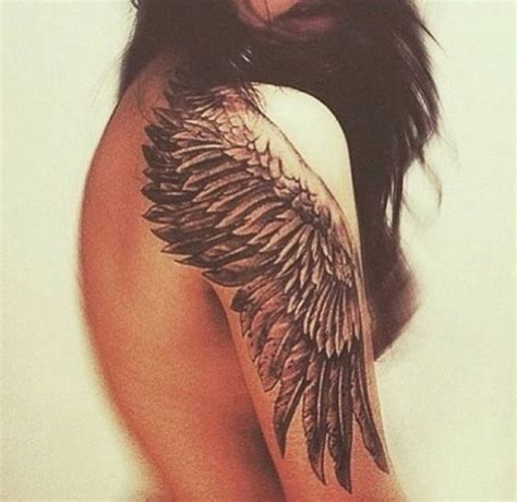 tattoo on upper shoulder pain wing tattoo on shoulder and upper sleeve tattoos
