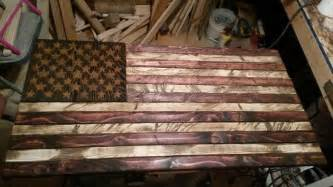 Buy a handmade rustic distressed wood american flag made to order