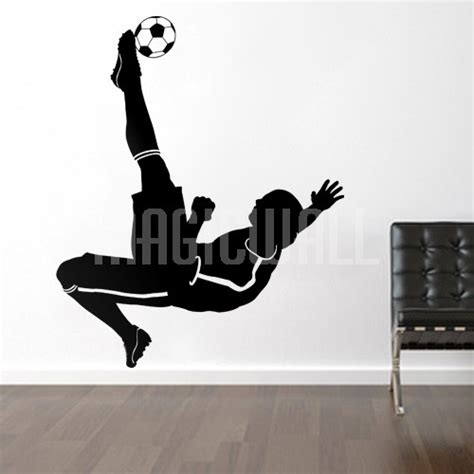 football stickers for walls wall decals soccer football player sports magic wall