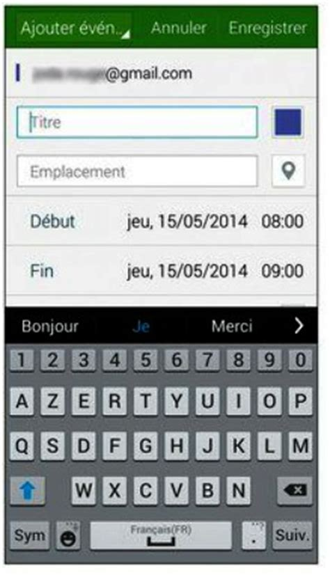 S Calendrier Supprimer événement Tutoriel Du Samsung Galaxy S5 G 233 Rer Vos Agendas Avec S