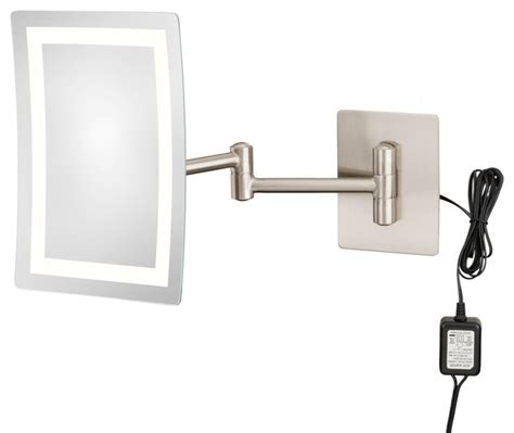 single sided 3500k led rectangular wall mirror hardwired