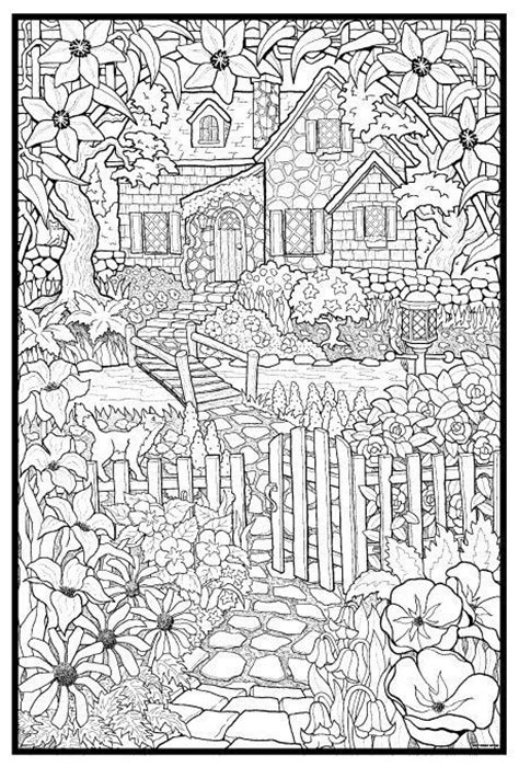 coloring books country cottage backyard gardens 2 40 grayscale coloring pages of country cottages cottages gardens flowers and more books 36 b 228 sta bilderna om m 229 larbilder f 246 r vuxna barn p 229
