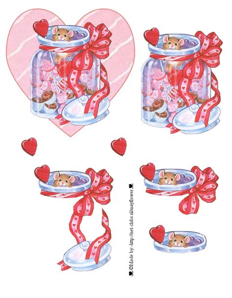 Decoupage Printables - 3d sheet decoupage printables