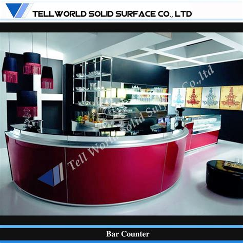 Curved Bar Counter China Modern Curved Design Corian Commerical Bar Counter