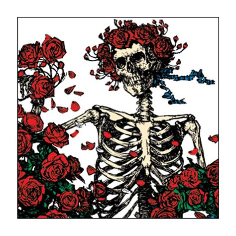 Grateful Dead The Best Of Skeletons From The Closet by The Grateful Dead Skeleton And Roses Button