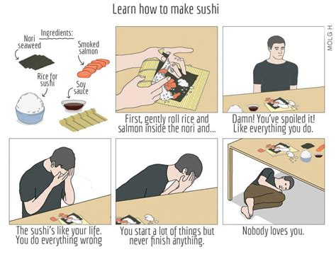 sushi meme translated quot how to make sushi quot comic how to make