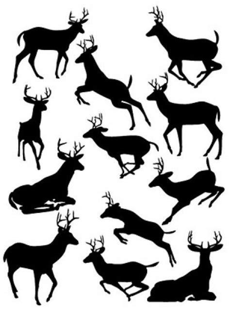 pattern whitetail deer deer silhouettes patterns deer silhouette vector