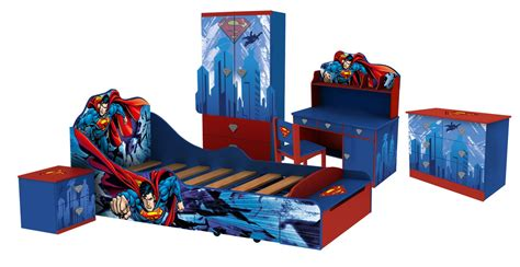 superman bedroom superman kid s bed room set allinfun