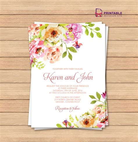 print at home invitation templates 206 best images about wedding invitation templates free