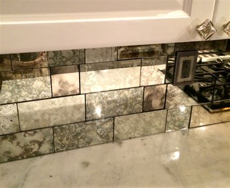 mirror tile backsplash kitchen antique mirror tiles google search bathroom visuals