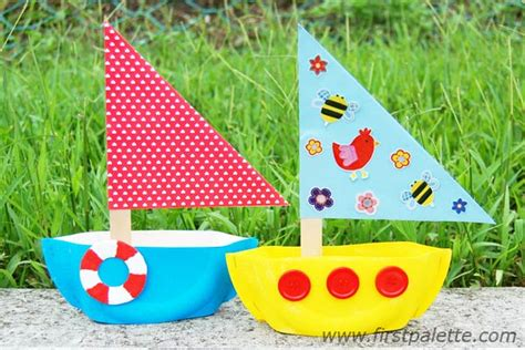 boat craft paper plate sailboat craft crafts firstpalette