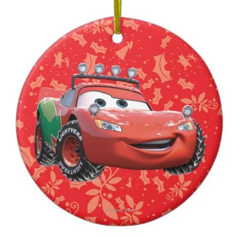 holiday lightning mcqueen christmas ornament disney cars