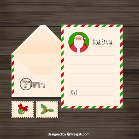 francobolli per lettere lettera di natale piatto con busta e francobolli