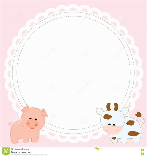 Baby Shower Pic Frames by Frame Baby Shower Stock Vector Image Of Label Card