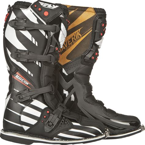 fly motocross boots fly racing f4 black mens youth maverick mx dirt bike