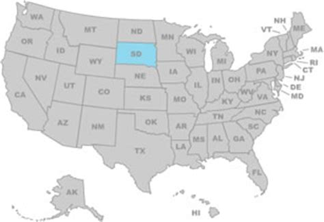 south dakota on us map south dakota ipl2 stately knowledge facts about the