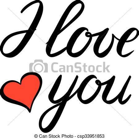 Imagenes De I Love You En Cursiva | letras usted amor cepillo ilustraci 243 n letras hecho