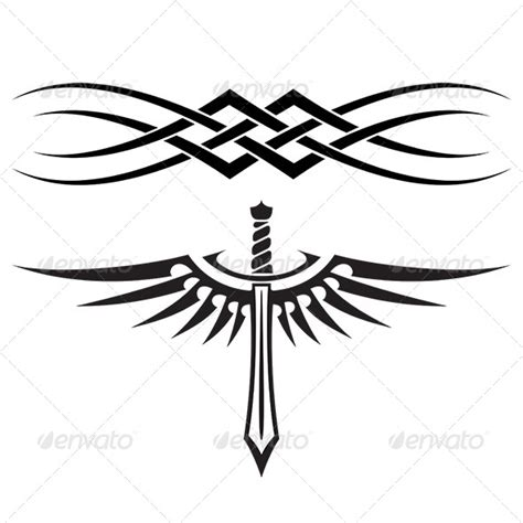 graphicriver tattoo maker simple abstract tattoo design 187 tinkytyler org stock