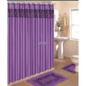 Bath Sets With Shower Curtains Complete Bath Accessory Set Purple Zebra Animal Print Rugs