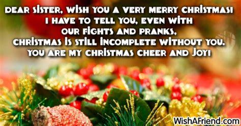 dear sister     christmas message  sister