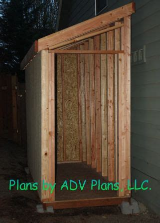 slant roof shed plan framing side  house alley