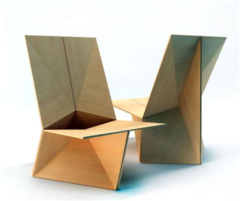 Wooden Chair Designs by The Folded Chair Plain Plywood Chair Velichko Velikov