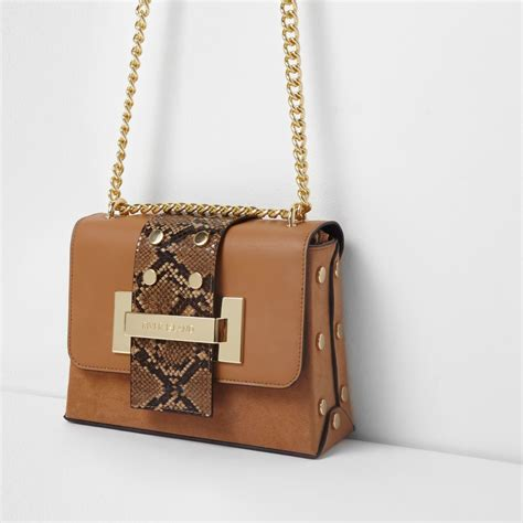 Longch Snake Print Small Bag snake cross chain bag cross bags bags