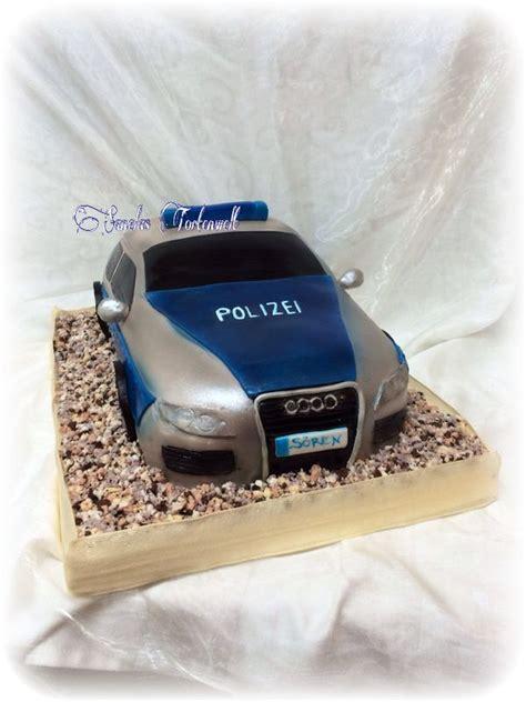 kuchen auto polizeiauto kuchen torte car cake birthday cake