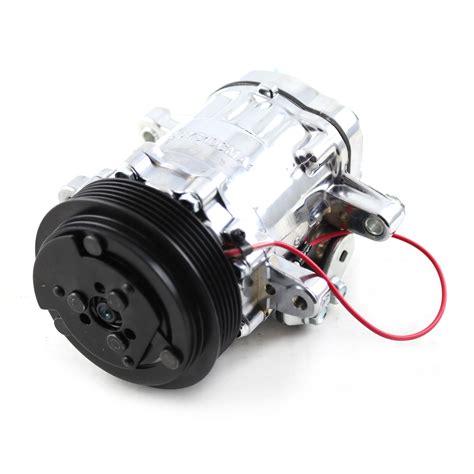 serpentine belt sanden style 7176 small chrome air compressor ebay