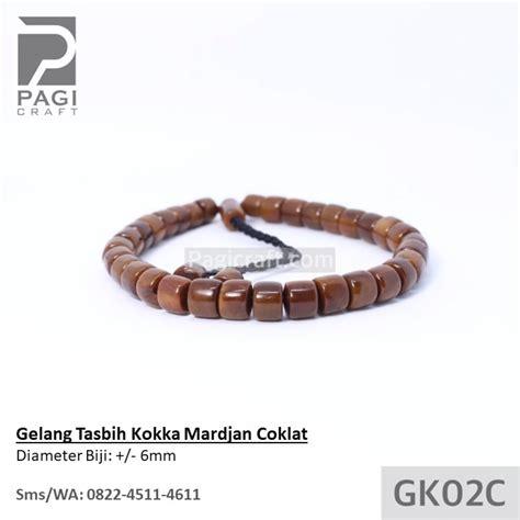 Gelang Kaukah Tasbih gelang tasbih kokka mardjan coklat bersertifikat kaukah