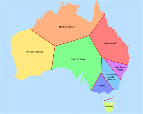 states in australia map australian states and capitals clipart best