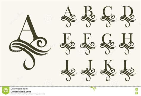 design system e font free vintage set1 capital letter for monograms and logos