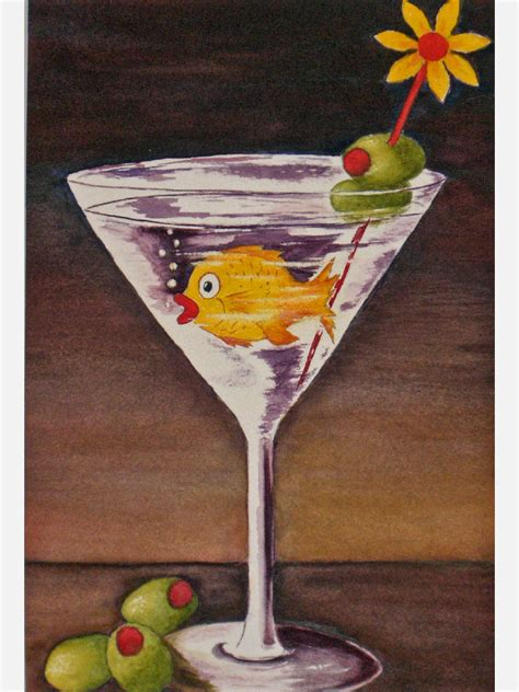 martini glass painting hour watercolor on paper sold catherine s