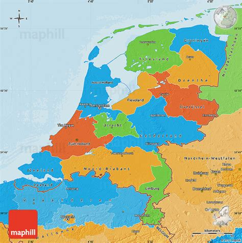 netherlands country map netherlands underwater map